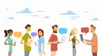 Pessoas Chat Digital Device