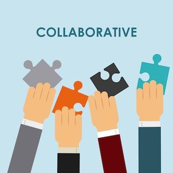 Pessoas colaborativas design, ilustração vetorial eps10 gráfico
