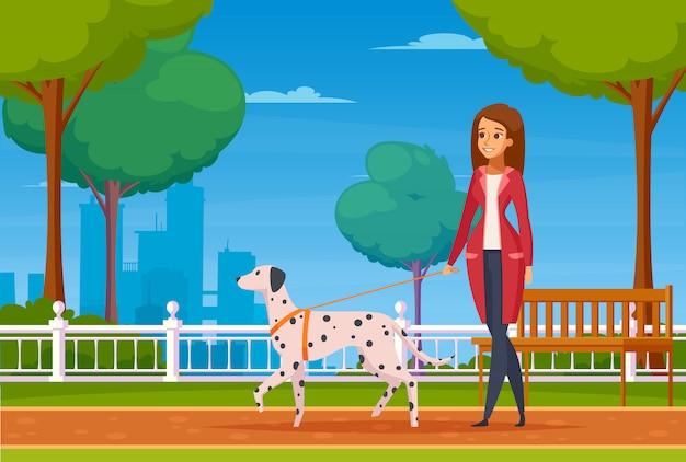 Pessoas com animais de estimação cartoon background
