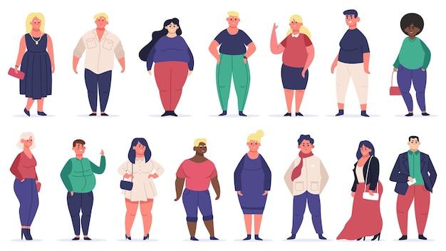 Pessoas com corpo positivo