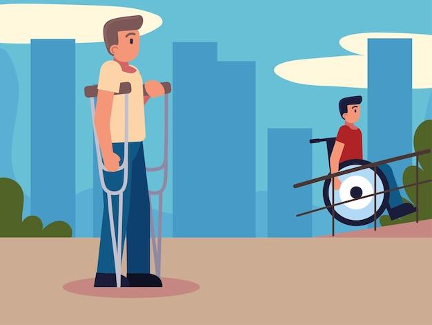 Pessoas com deficiência em movimento