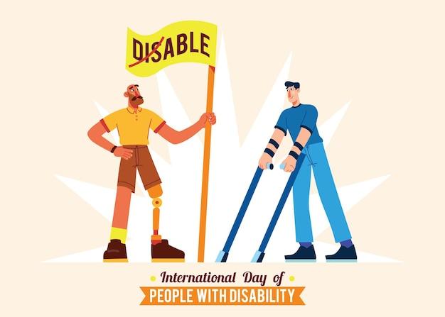 Pessoas com deficiência sendo confiantes
