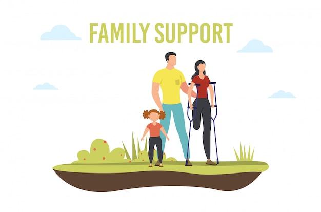 Pessoas com deficiência suporte familiar plano