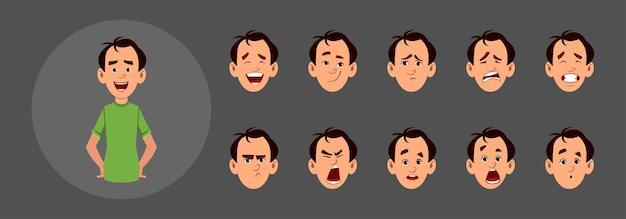 Pessoas com diferentes emoções faciais