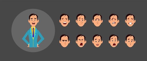 Pessoas com diferentes expressões faciais definidas
