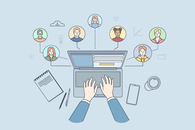 Pessoas com diferentes habilidades e experiências se conectando