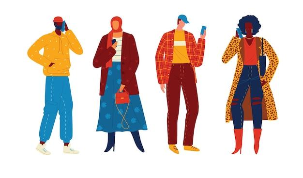 Pessoas com dispositivos móveis