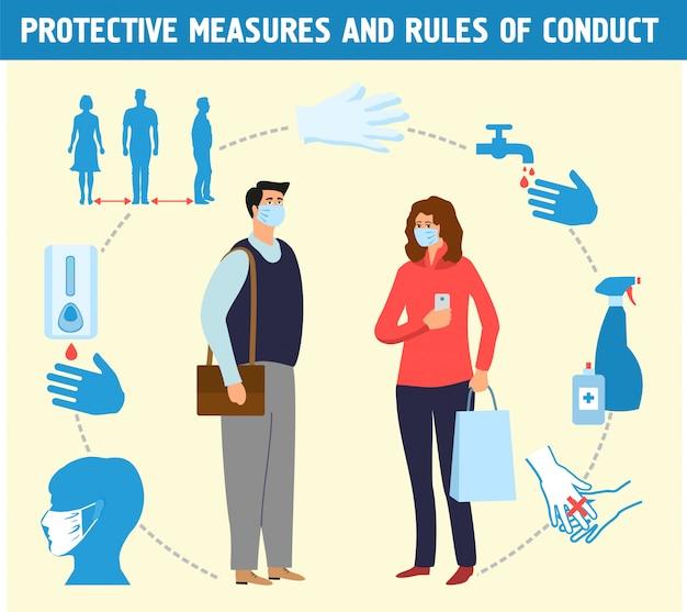 Pessoas com máscaras protetoras.