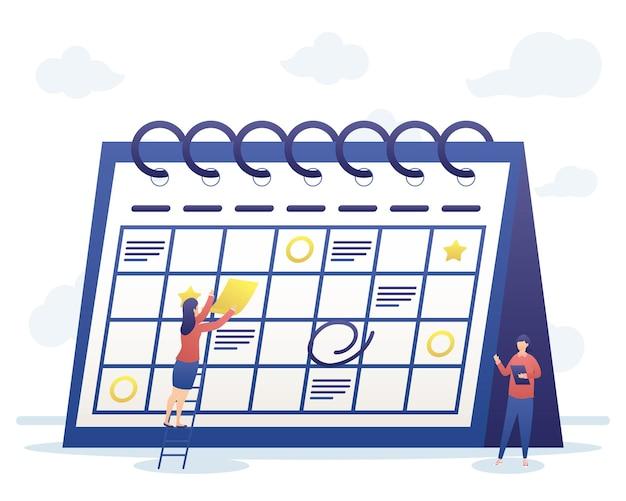 Pessoas com planejamento de calendário