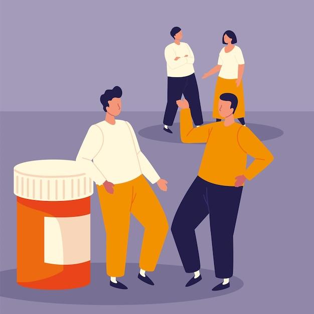 Pessoas com prescrição médica