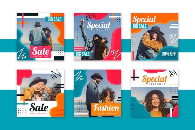 Pessoas com vendas de modelo de modelo de mídia social de chapéus