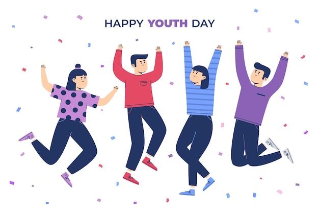 Pessoas comemorando o dia da juventude