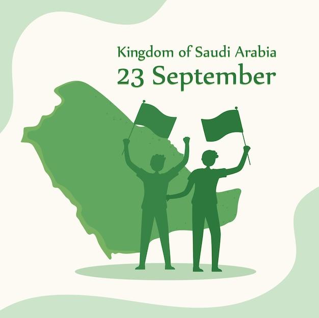 Pessoas comemorando o dia nacional da arábia saudita