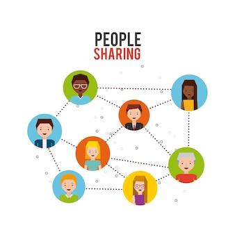 Pessoas compartilhando design