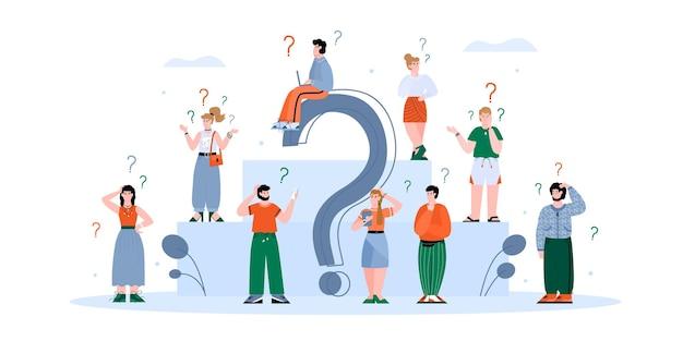 Pessoas confusas procurando informações isoladas