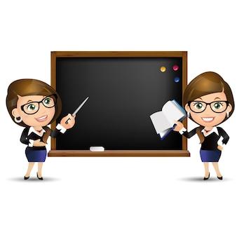Pessoas conjunto educação professora mulher quadro branco