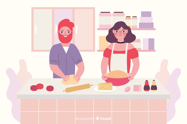 Pessoas, cozinhar