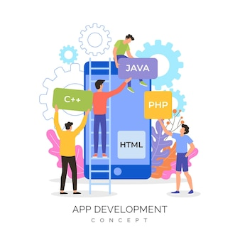 Pessoas criando juntos um novo aplicativo