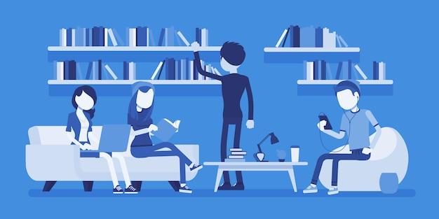 Pessoas da biblioteca pública