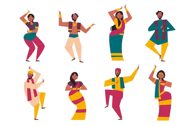 Pessoas dançando o conceito de bollywood
