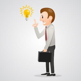 Pessoas de arte de idéia de homem de escritório. ilustração vetorial