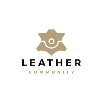 Pessoas de couro equipe, comunidade, família, juntos, logotipo, vetorial, ícone, ilustração