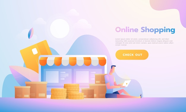 Pessoas de design moderno plano e conceito de negócios para m-commerce, fácil de usar e altamente personalizável. conceito de ilustração vetorial moderna.