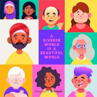 Pessoas de diferentes culturas e raças