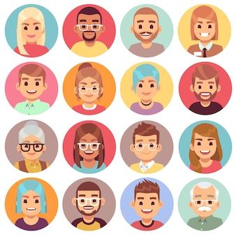 Pessoas de diferentes sexos, idades e raças.