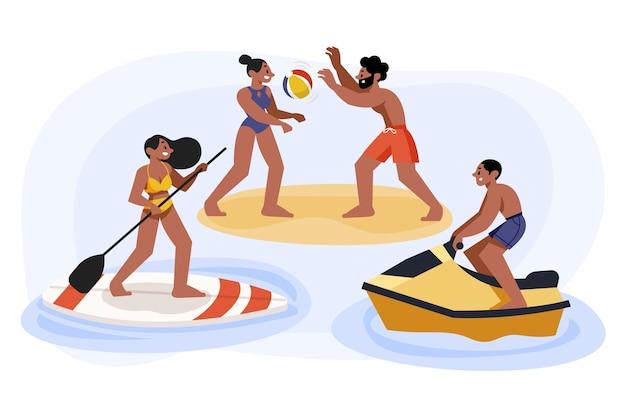 Pessoas de esportes de verão