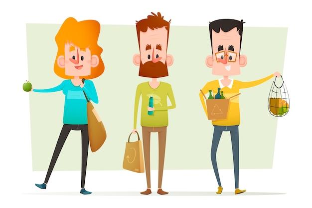 Pessoas de estilo de vida verde