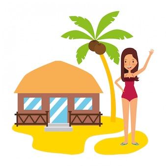 Pessoas de férias de verão
