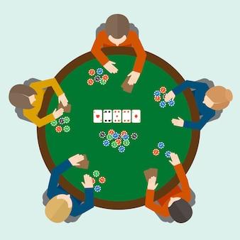 Pessoas de jogos de poker