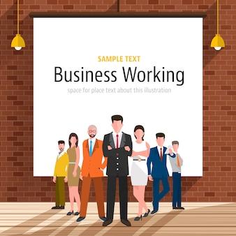 Pessoas de negócio