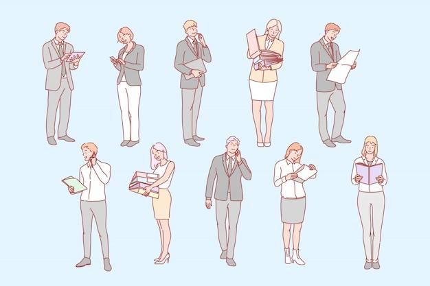 Pessoas de negócios definir conceito