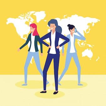 Pessoas de negócios e o conceito de trabalho