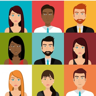 Pessoas de negócios e trabalho em equipe