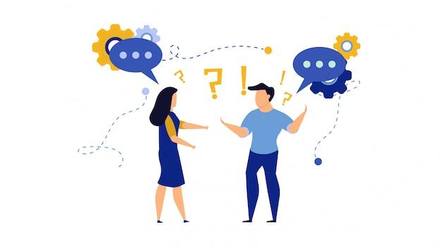 Pessoas de negócios em diálogo