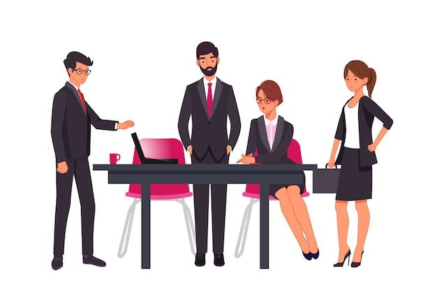 Pessoas de negócios em trajes profissionais