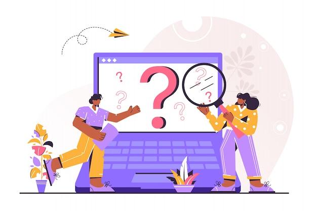 Pessoas de negócios, fazendo perguntas