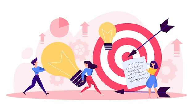 Pessoas de negócios geram o conceito de ideia. brainstorm e trabalho em equipe