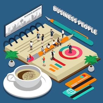 Pessoas de negócios isométricas