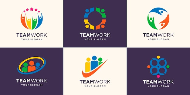Pessoas de negócios juntos. logotipo de ilustração vetorial