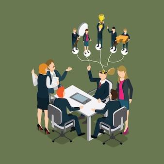 Pessoas de negócios, reunião com profissional workship