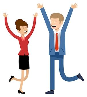 Pessoas de negócios, trabalhadores de escritório a sorrir