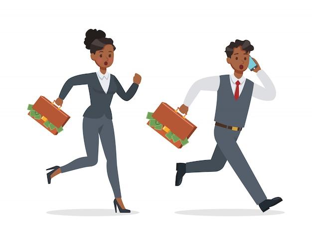 Pessoas de negócios, trabalhando em conjunto de escritório