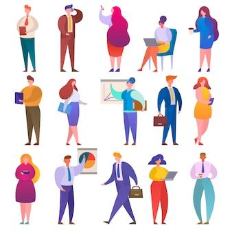 Pessoas de negócios vetor empresários personagem profissionais trabalhadores e trabalhadores