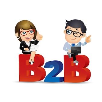 Pessoas definem negócios com empresário e mulher de negócios