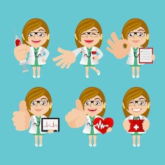 Pessoas definem profissão de médico em diferentes poses