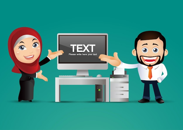 Pessoas definidas, empresários árabes